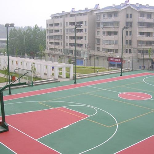硅PU篮球场施工